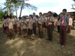 prosesi upacara pelantikan dewan